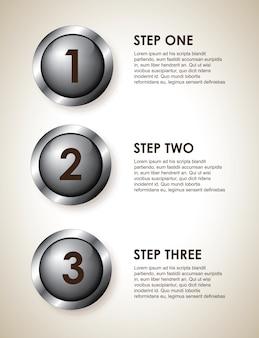 Pasos de infografia