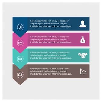 Pasos infográficos de negocios
