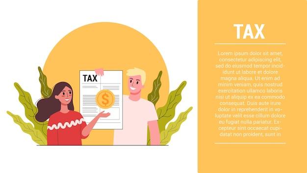 Pasos de inicio. concepto de impuestos. idea de contabilidad y pago. factura financiera. datos en el documento y papeleo.