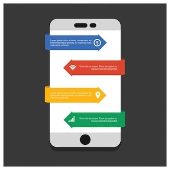 Pasos móvil infografía