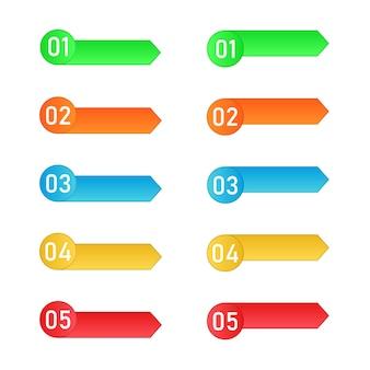 Los pasos del proceso. elementos de vector infografía.