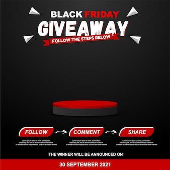 Pasos del sorteo del viernes negro para el diseño del concurso de redes sociales