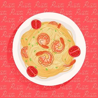 Pasta con camarones