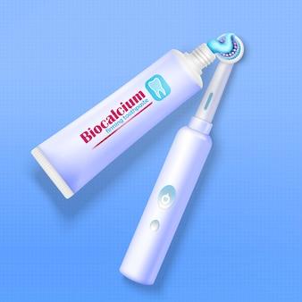 Pasta de dientes y cepillo de dientes