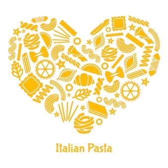 Pasta italiana.