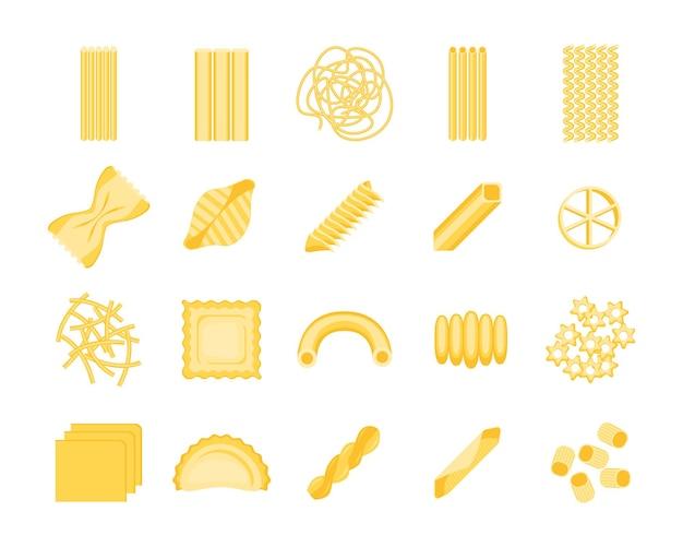 Pasta set surtido diferentes formas