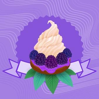 Pastel colorido dulce hermoso cupcake postre deliciosa comida