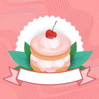 Pastel colorido dulce hermoso postre deliciosa comida