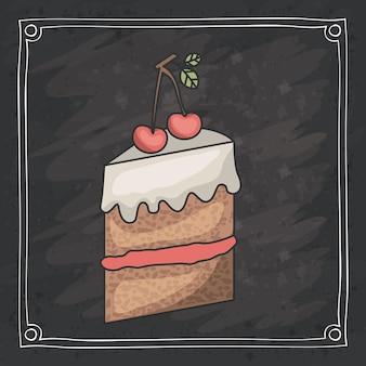 Pastel de diseño de alimentos de panadería