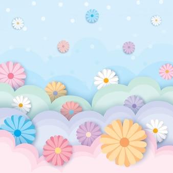 Pastel de flores de primavera