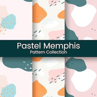 Pastel memphis patrón de diseño