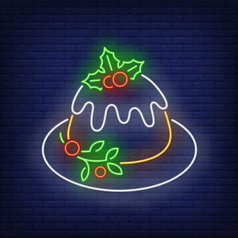 Pastel de navidad en estilo neón