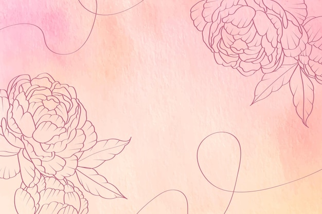 Pastel en polvo con elementos dibujados a mano - fondo