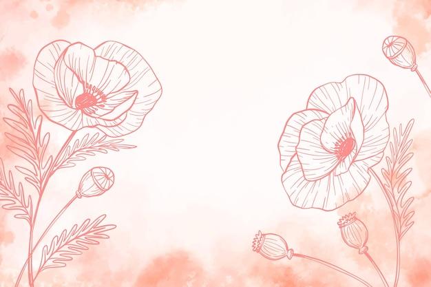 Pastel en polvo con fondo de elementos dibujados a mano