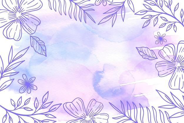 Pastel en polvo con papel pintado de elementos dibujados a mano