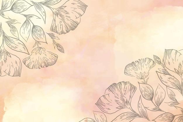 Pastel en polvo con papel tapiz de elementos