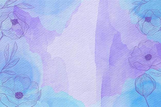 Pastel en polvo con plantas dibujadas a mano