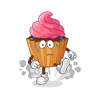 Pastel de taza corriendo ilustración