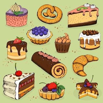 Pasteles y productos de harina para panadería, pastelería