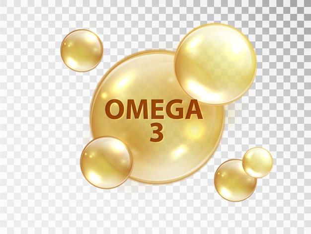 Pastilla de omega 3. cápsula de vitamina.
