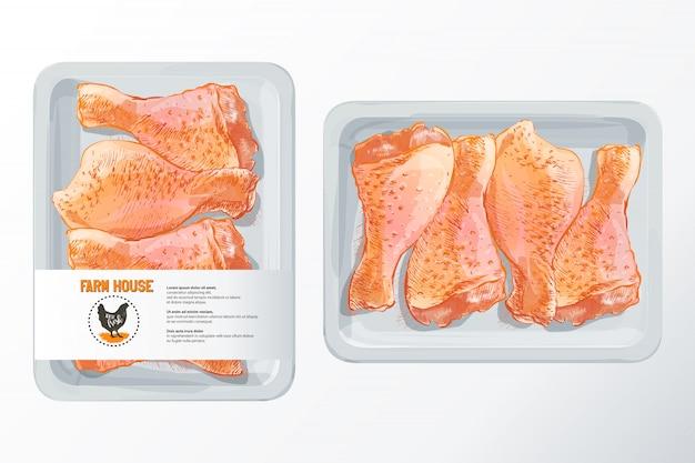 Patas de pollo fresco