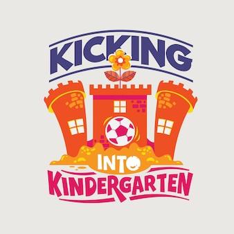 Pateando en la frase de jardín de infantes