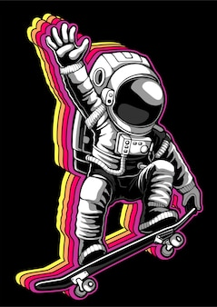 Patineta astronauta