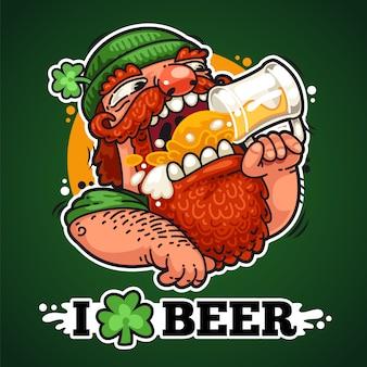 Patricio con cerveza
