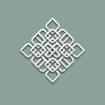 Patrón 3d en estilo árabe