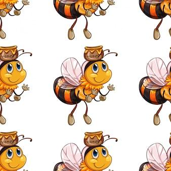 Patrón de abeja sin costuras