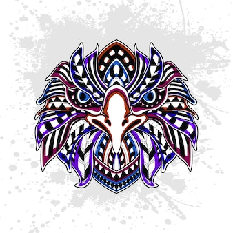Patrón abstracto de águila