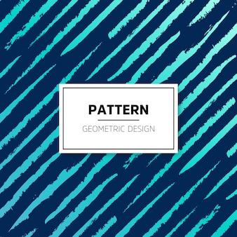 Patrón abstracto azul de líneas rayadas