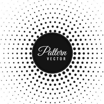 Patrón abstracto circular de puntos