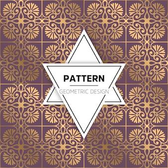 Patrón abstracto dorado de lujo