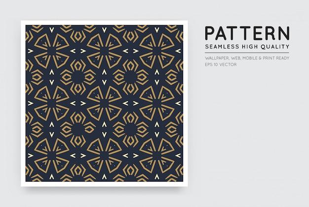 Patrón abstracto de estilo árabe de vector transparente
