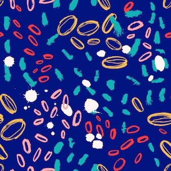 Patrón abstracto sin fisuras con coloridos trazos de pincel ovalado