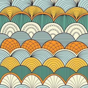 Patrón abstracto sin fisuras con ondas