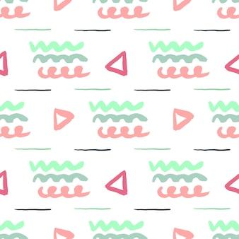 Patrón abstracto sin fisuras simple. vector a mano alzada textura para web, impresión, tela, textil, tarjeta de invitación