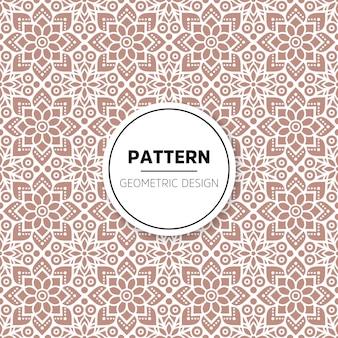 Patrón abstracto con formas florales