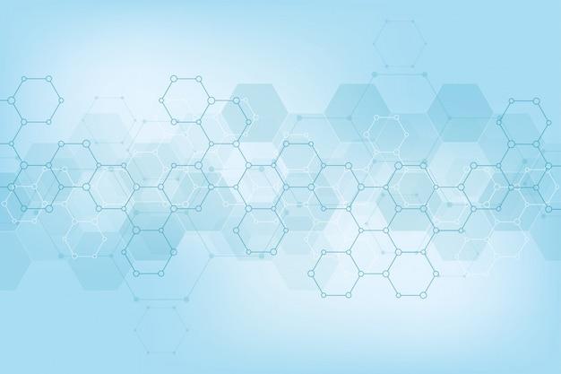 Patrón abstracto de hexágonos