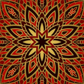 Patrón abstracto con mandala