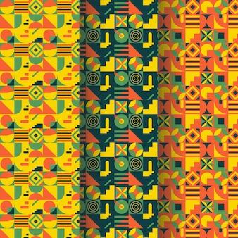 Patrón abstracto de mosaico plano