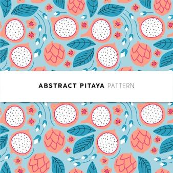 Patrón abstracto de pitaya