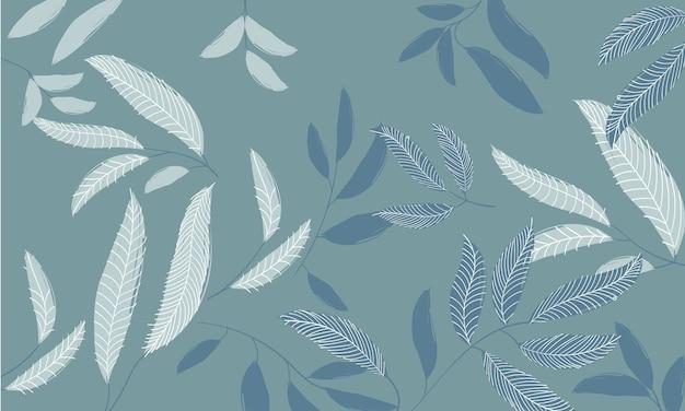 Patrón abstracto de ramitas y hojas de planta de eucalipto