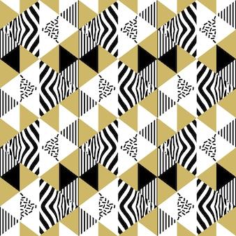 Patrón abstracto de triángulo sin fisuras de memphis