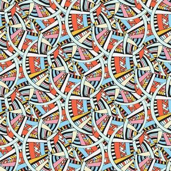 Patrón abstracto vector sin fisuras. fondo geométrico brillante. textura de moda para la tela o el diseño de embalaje