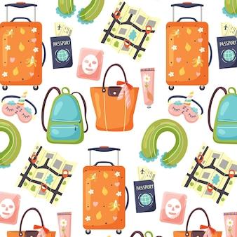 Patrón de accesorios de equipaje turístico