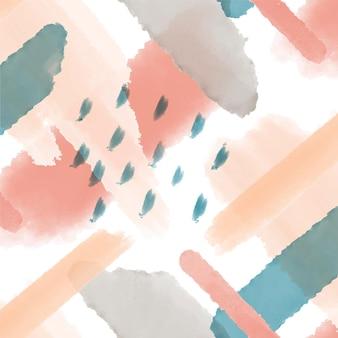 Patrón de acuarela abstracta