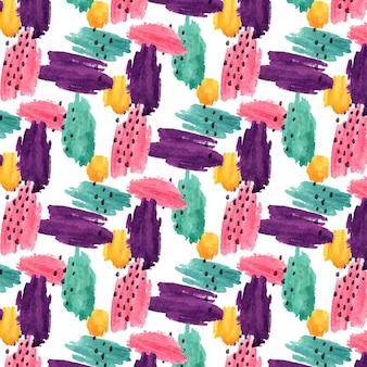 Patrón de acuarela colorido abstracto