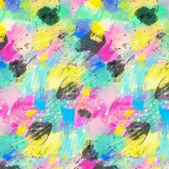 Patrón de acuarela de formas abstractas